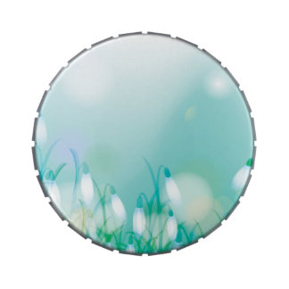 Lovely Bokeh Glowing Flowers Cards, Gifts, Postage Candy Tins