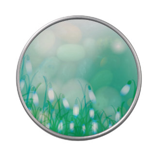 Lovely Bokeh Glowing Flowers Cards, Gifts, Postage Candy Tin