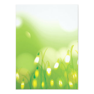 "Lovely Bokeh Glowing Flowers Cards, Gifts, Postage 5.5"" X 7.5"" Invitation Card"