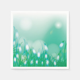 Lovely Bokeh Glowing Flowers Cards, Gifts, Postage Disposable Napkins