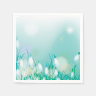 Lovely Bokeh Glowing Flowers Cards, Gifts, Postage Paper Napkin
