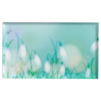 Lovely Bokeh Glowing Flowers Cards, Gifts, Postage Table Card Holders