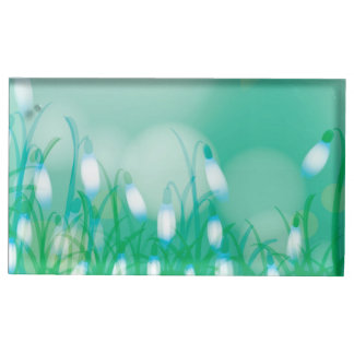 Lovely Bokeh Glowing Flowers Cards, Gifts, Postage Table Card Holder