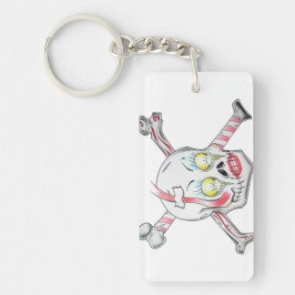 """Lovely Bones"" by Exile Artwork Keychain! Double-Sided Rectangular Acrylic Keychain"