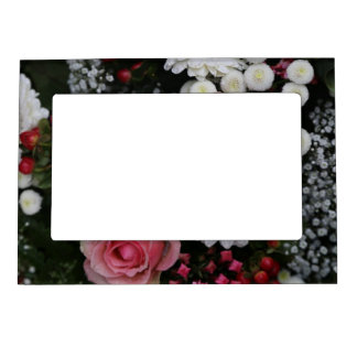 Lovely Bouquet of Flowers Magnetic Frame