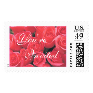 Lovely Bouquet of Roses (1D) You're Invited Postage