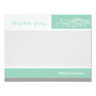 Lovely Boy Custom Thank You Note Card