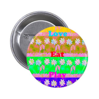 Lovely Bright summer time colors.png Pinback Button