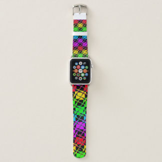Lovely Bright Water Colors Mirror Image Apple Watch Band