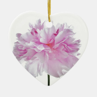 Lovely Bright wink Peony Flower Photo Ceramic Ornament
