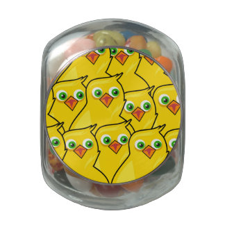 Lovely Bright Yellow Easter Chickens Jelly Belly Candy Jars