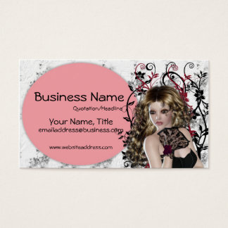 Lovely Brown Haired Lady 3- Fantasy Business Cards