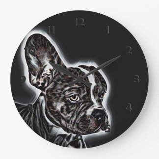 Lovely Buddy Black and White Large Clock