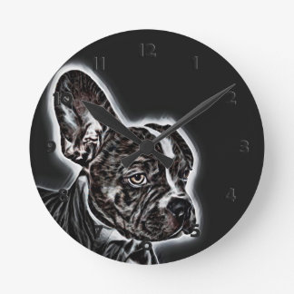 Lovely Buddy Black and White Round Clock