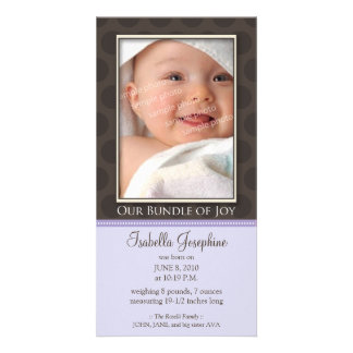 Lovely Bundle of Joy Birth Announcement :: lilac