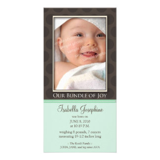 Lovely Bundle of Joy Birth Announcement :: mint
