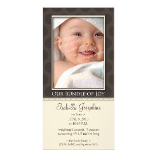 Lovely Bundle of Joy Birth Announcement :: taupe