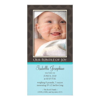 Lovely Bundle of Joy Birth Announcement :: teal