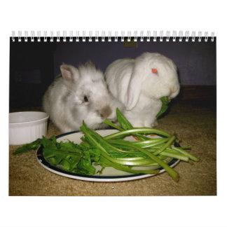 lovely bunnies calendar