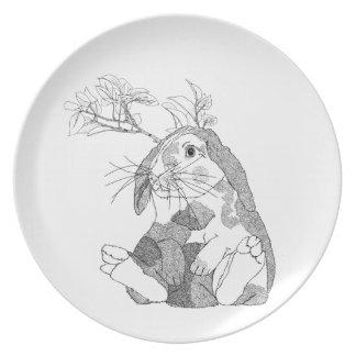 Lovely Bunny Dinner Plate