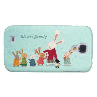 Lovely Bunny Rabbit Family Galaxy S4 Case