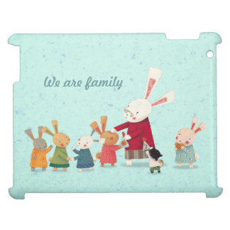 Lovely Bunny Rabbit Family iPad Case