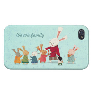 Lovely Bunny Rabbit Family iPhone 4 Cases