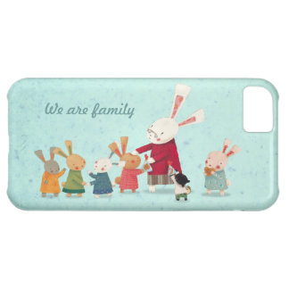 Lovely Bunny Rabbit Family iPhone 5C Covers