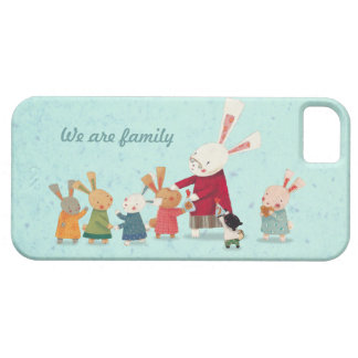 Lovely Bunny Rabbit Family iPhone SE/5/5s Case