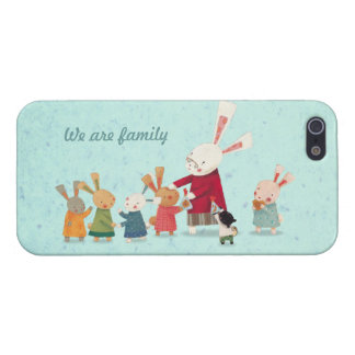 Lovely Bunny Rabbit Family iPhone SE/5/5s Cover