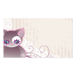 lovely business card with cat