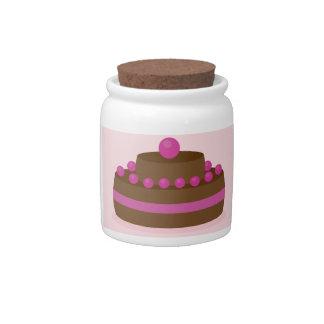 Lovely cake candy jar