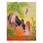"""""""Lovely Calf"""" Postcard"""