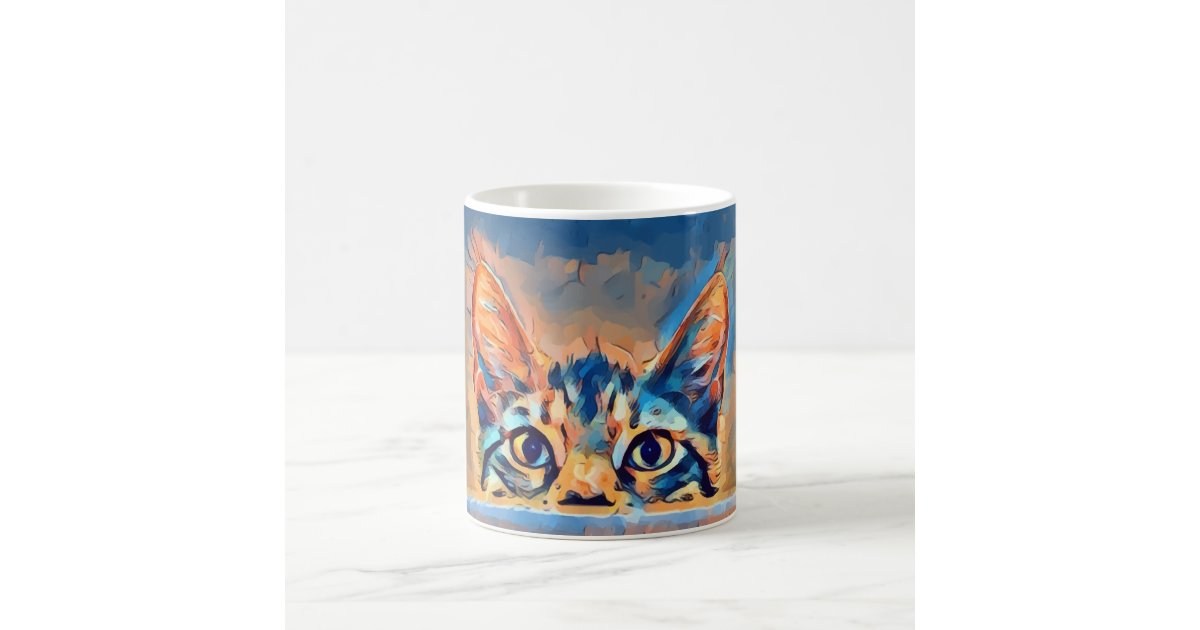 Lovely Cat Sneaking In Design Coffee Mug | Zazzle.com