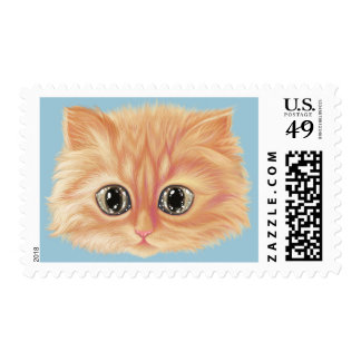 Lovely cat with sparkle eyes Stamp
