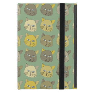 lovely cats faces cover for iPad mini