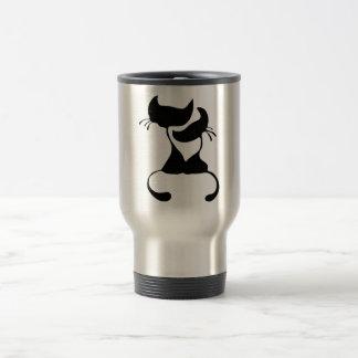 Lovely Cats Silhouette Travel Mug