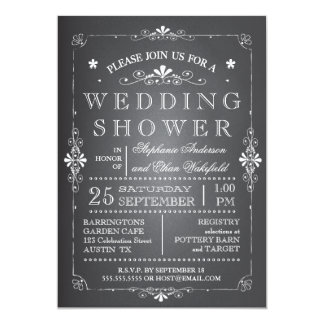 Lovely Chalkboard Couples Wedding Shower Card