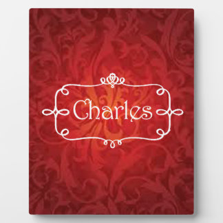 lovely Charles name designs Plaque