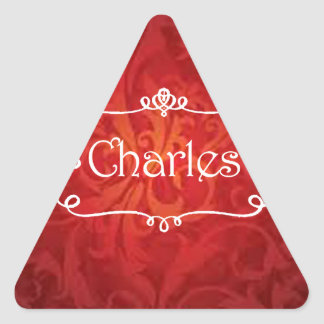 lovely Charles name designs Triangle Sticker