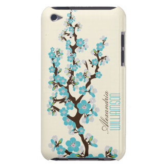 Lovely Cherry Blossoms (aqua) iPod Touch Case-Mate Case