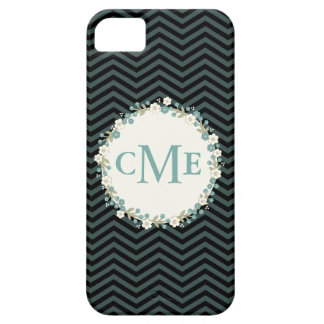 Lovely Chevron Monogram Floral Phone Case iPhone 5 Covers