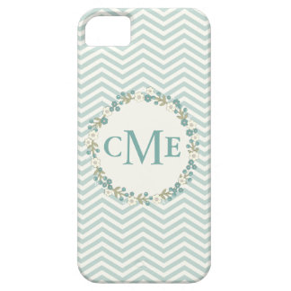 Lovely Chevron Monogram Floral Phone Case iPhone 5 Cover