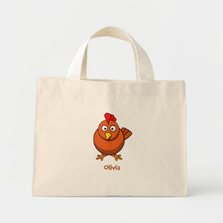 Lovely chicken mini tote bag