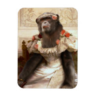 Lovely Chimp in Gown Magnet