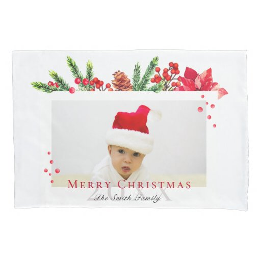 Lovely Christmas Frame Personalized Photo Pillow Case