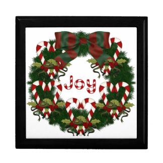 Lovely Christmas Holiday Wreath - Customize Keepsake Box