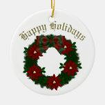 Lovely Christmas Holiday Wreaths - Customize Christmas Ornaments