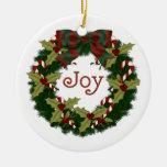 Lovely Christmas Holiday Wreaths - Customize Christmas Ornament