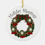 Lovely Christmas Holiday Wreaths - Customize Christmas Tree Ornament
